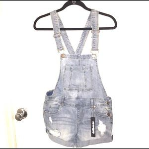 🔥4/25 Dollhouse Distressed Overalls W27